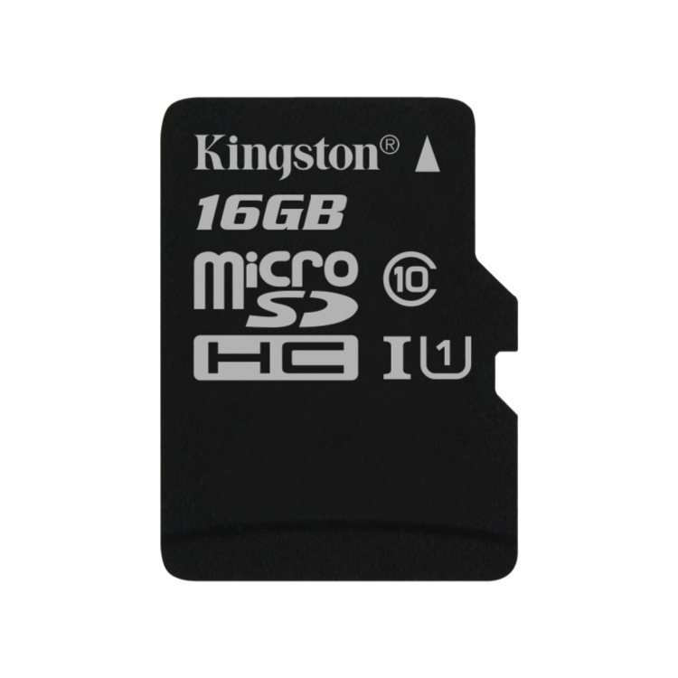 Kingston Canvas Select Micro SDHC 16GB, UHS-I U1, Class 10 - rýchlosť 80 MB/s (SDCS/16GBSP)