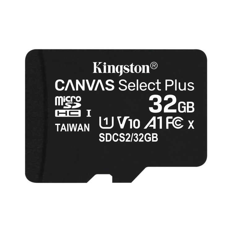 Kingston Canvas SeIect Plus Micro SDHC 32GB, UHS-I A1, Class 10 - rýchlosť 100 MB/s (SDCS2/32GBSP)