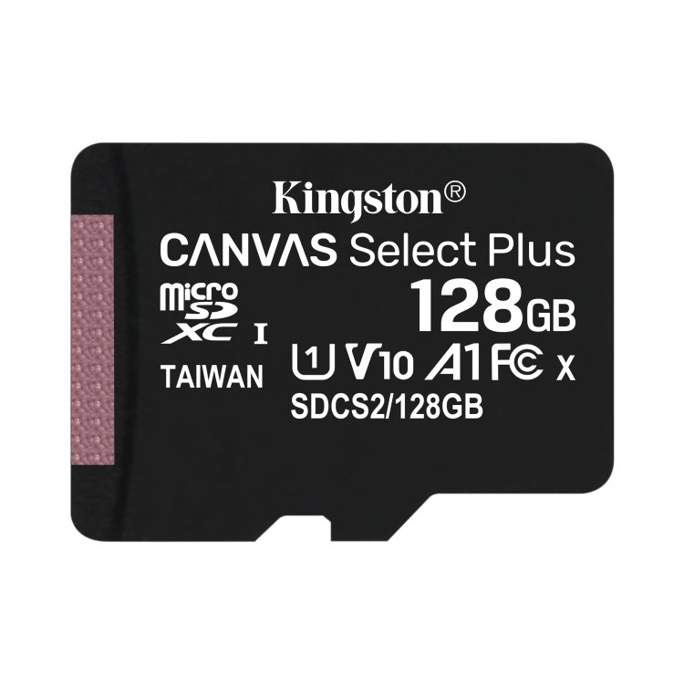 Kingston Canvas SeIect Plus Micro SDXC 128GB, UHS-I A1, Class 10 - rýchlosť 100 MB/s (SDCS2/128GBSP)