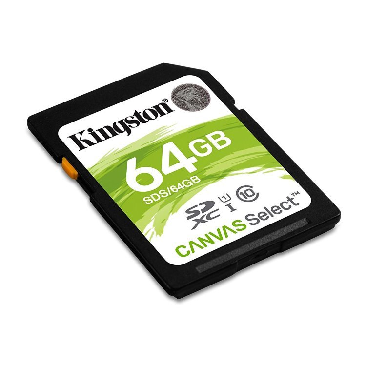 Kingston Canvas SeIect Secure Digital SDXC UHS-I 64GB | Class 10, rýchlosť až 80MB/s (SDS/64GB)