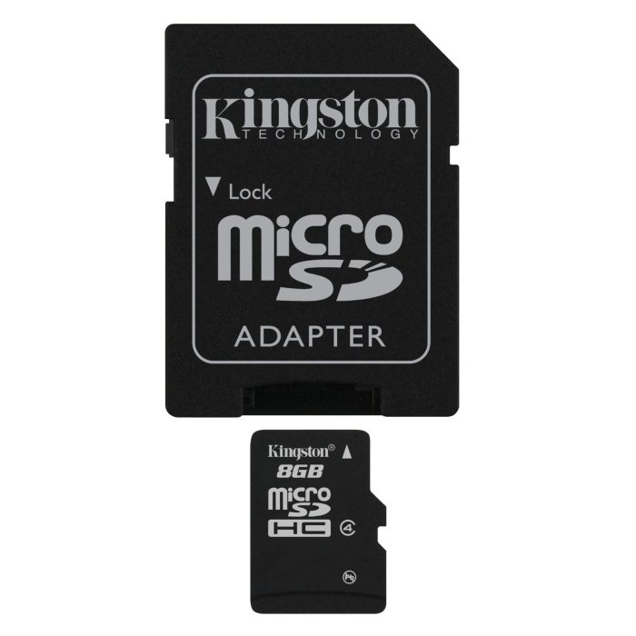Kingston Micro SDHC 16GB + SD adapt�r, Class 4 - r�chlos� 14 MB/s