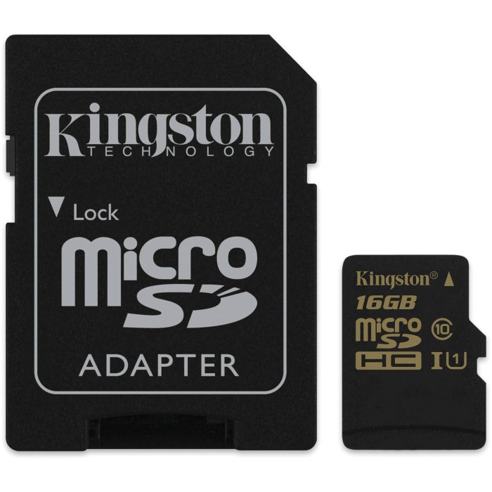 Kingston Micro SDHC 16GB, UHS-I, Class 10 - r�chlos� ��tania 90 MB/s, z�pisu 45 MB/s (SDCA10/16GB)