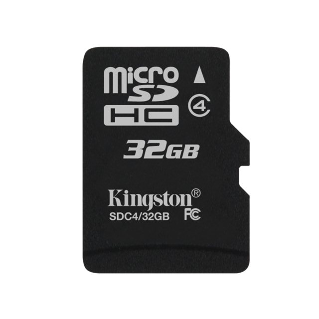 Kingston Micro SDHC 32GB, Class 4 - r�chlos� 14 MB/s