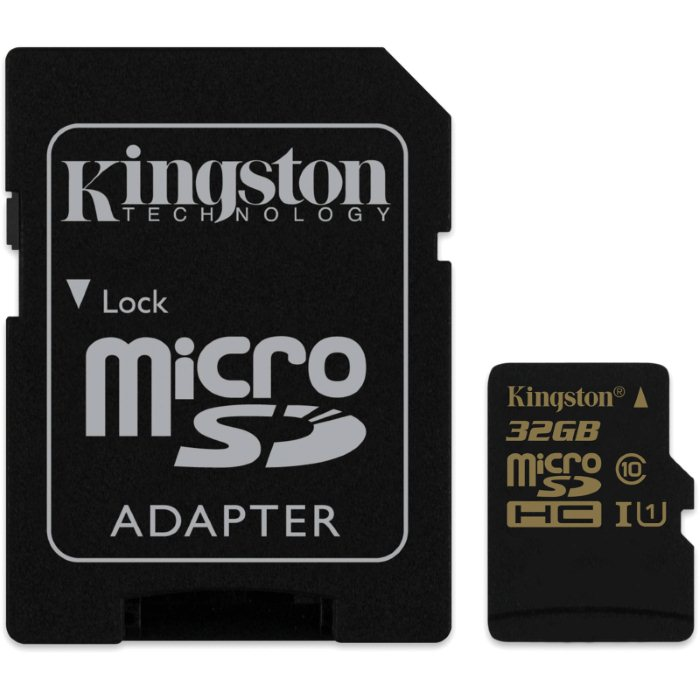 Kingston Micro SDHC 32GB, UHS-I, Class 10 + SD adapt�r, r�chlos� ��tania a� 90 MB/s, r�chlos� z�pisu 45 MB/s