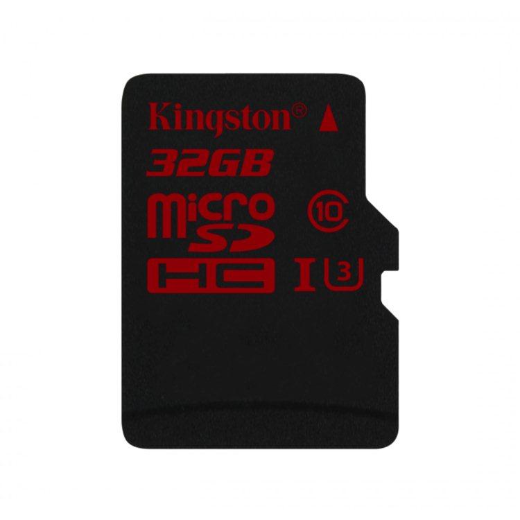 Kingston Micro SDHC 32GB, UHS-I U3, Class 10 - rýchlosť čítania 90 MB/s, zápisu 80 MB/s (SDCA3/32GBSP)