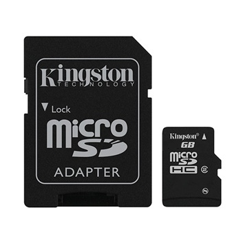Kingston Micro SDHC 8GB + SD adapt�r, Class 4 - r�chlos� 14 MB/s