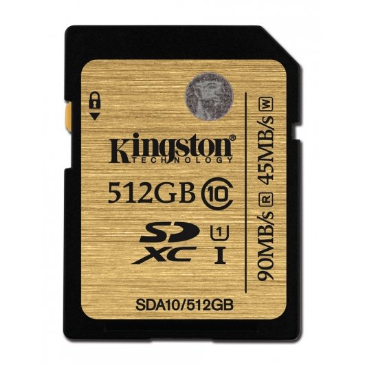 Kingston Secure Digital SDXC UHS-I 512GB | Class 10, rýchlosť až 90MB/s (SDA10/512GB)