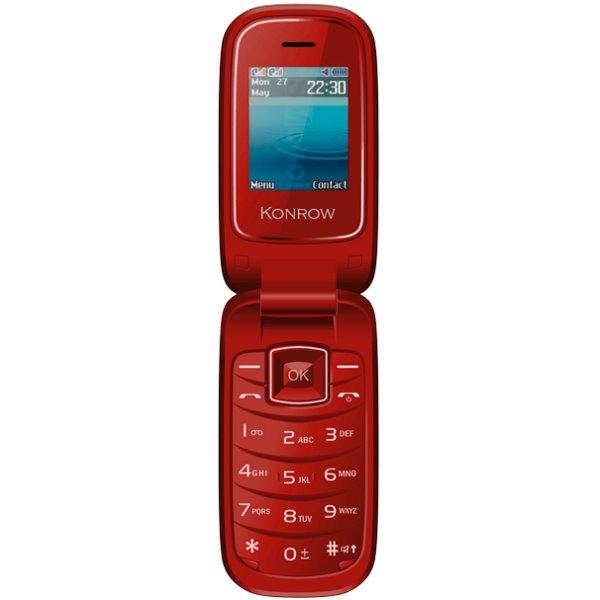 Konrow K-Flip, Dual SIM, červený