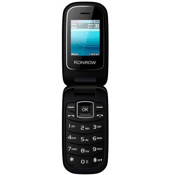 Konrow K-Flip, Dual SIM, čierny