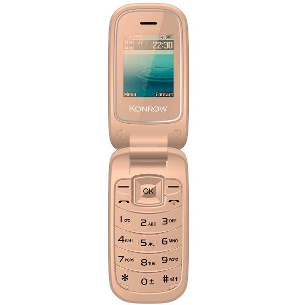 Konrow K-Flip, Dual SIM, zlatý