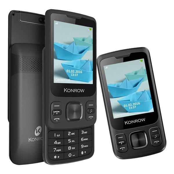 Konrow Slider, Dual SIM, čierny