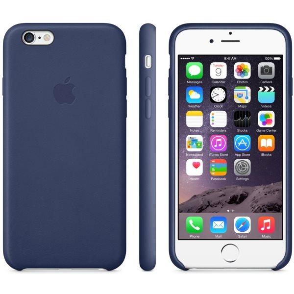 Kožené originálne puzdro Apple MGQV2ZM/A pre Apple iPhone 6 Plus a 6S Plus, Midnight Blue