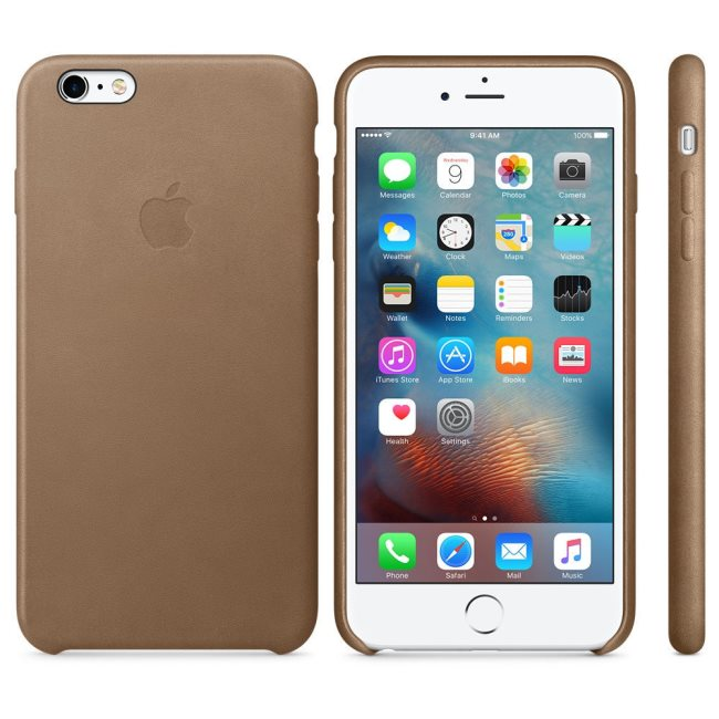 Kožené originálne puzdro Apple MKX92ZM/A pre Apple iPhone 6 Plus a iPhone 6S Plus, Brown