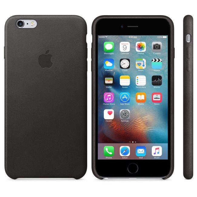 Kožené originálne puzdro Apple MKXF2ZM/A pre Apple iPhone 6S Plus a 6 Plus, Black