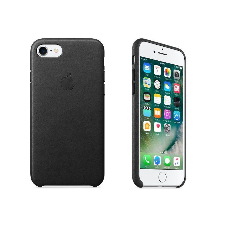 Kožené originálne puzdro Apple MMY52ZM/A pre Apple iPhone 7 a iPhone 8, Black