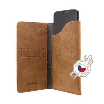 Kožené puzdro FIXED Pocket Book pre Apple iPhone 6 Plus/6S Plus/7 Plus/8 Plus/XS Max, hnedé