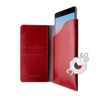 Kožené puzdro FIXED Pocket Book pre Apple iPhone XR, červené