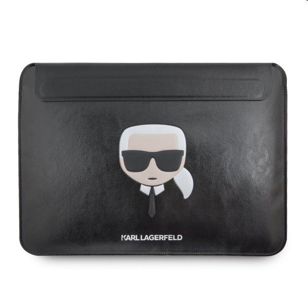 """Kožené púzdro Karl Lagerfeld pre Apple MacBook Air/Pro 13"""", black"""