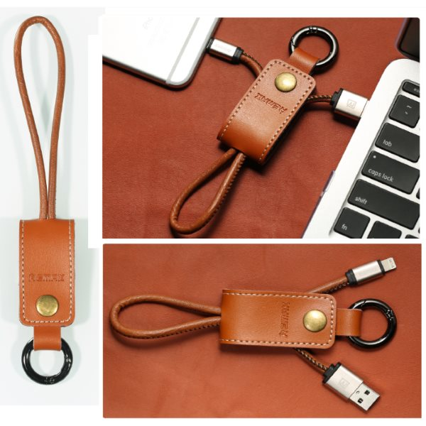 Ko�en� d�tov� a nab�jac� k�bel Western pre Apple iPhone a iPad s lightning konektorom, Brown