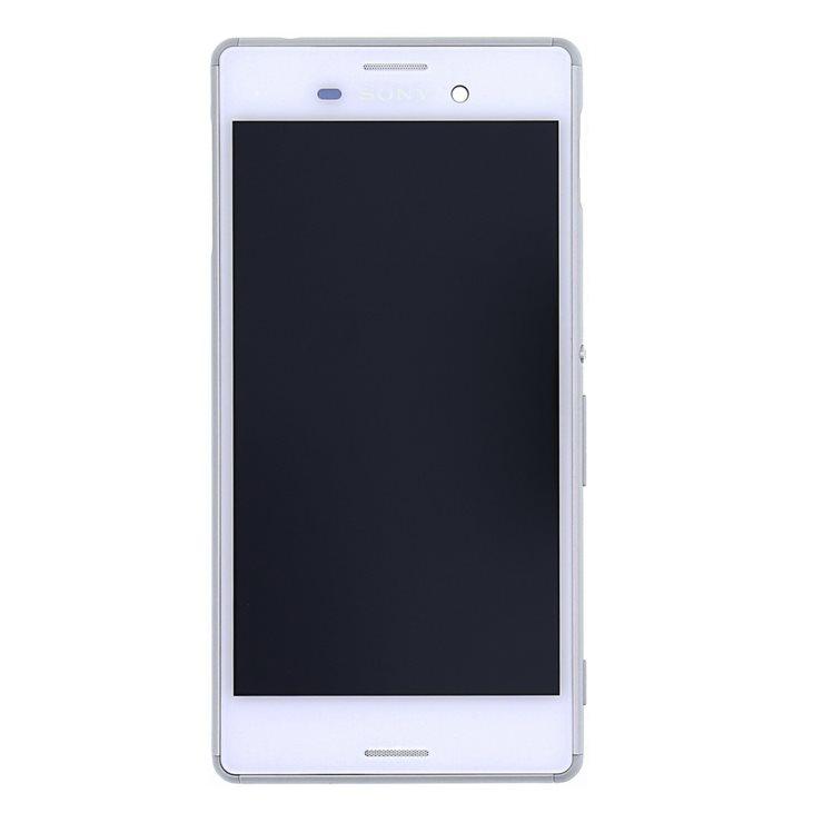LCD displej + dotyková plocha + kompletný kryt pre Sony Xperia M4 Aqua - E2303, White