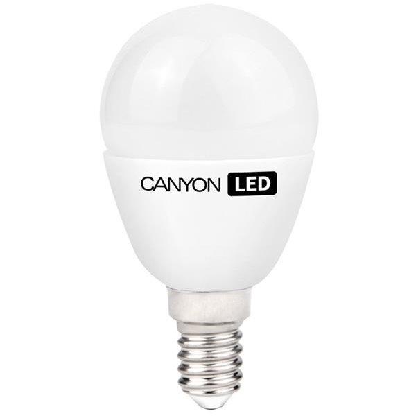 Led žiarovka Canyon E14, kompakt guľatá mliečna, 3.3W - svietivosť 262 lm, neutrálne biela 4000k, CRI > 80