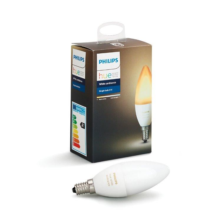 LED žiarovka Philips Hue 6W E14, White Ambiance