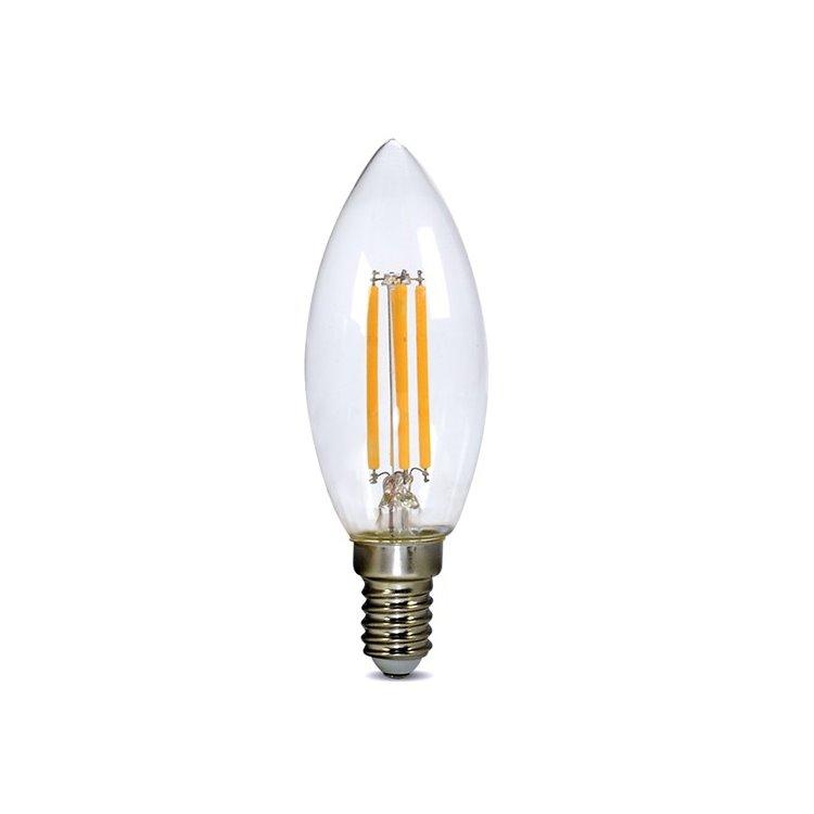 LED žiarovka retro Solight 4W, E14, 3000K, 440lm