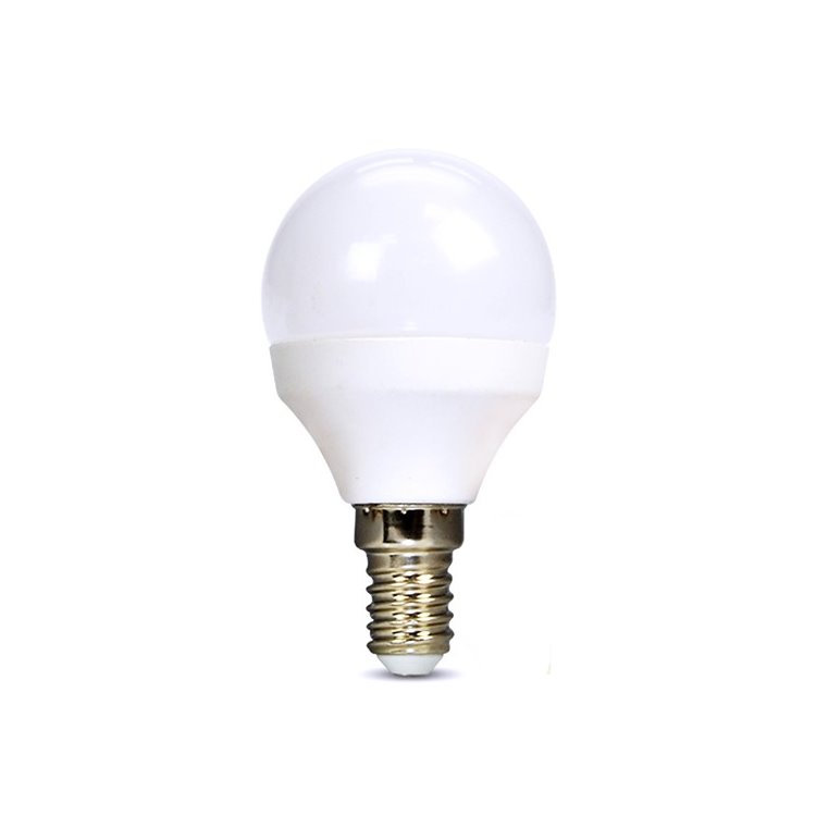 LED žiarovka Solight 6W, E14, 6000K, 450lm