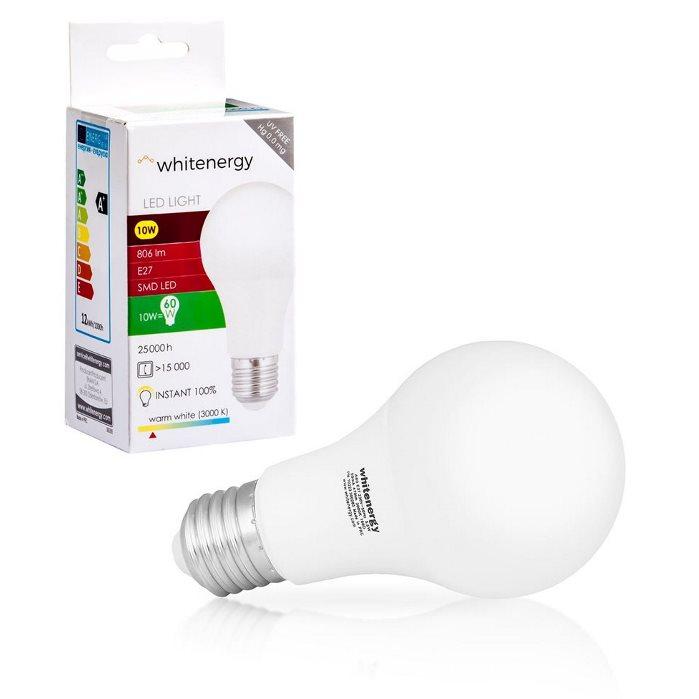 LED žiarovka WhiteEnergy, E27, 10W - 806lm, Teplá biela - 3000K