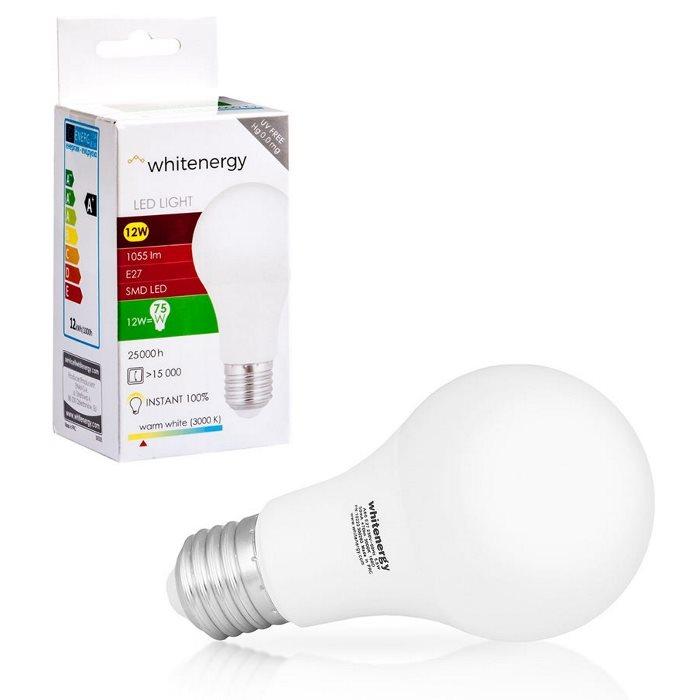 LED žiarovka WhiteEnergy, E27, 12W - 1055lm, Teplá biela - 3000K