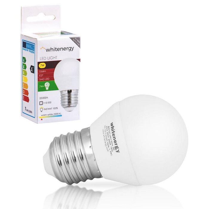 LED žiarovka WhiteEnergy, E27, 7W - 556lm, Teplá biela - 3000K