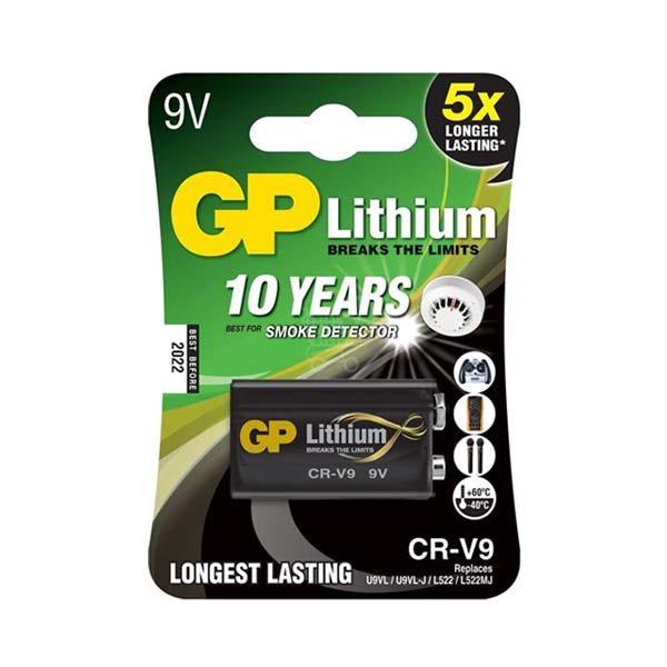 Líthiová batéria, GP CR-V9, typ 9V, 1 kus