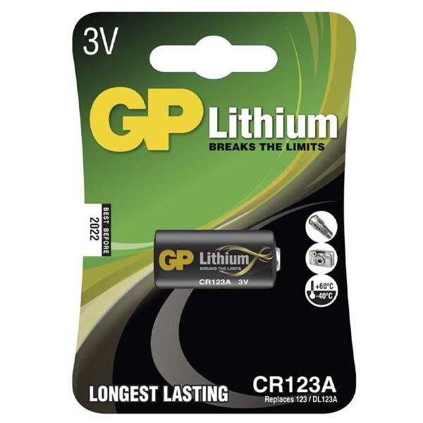 Líthiová batéria, GP typ CR123A, 1 kus