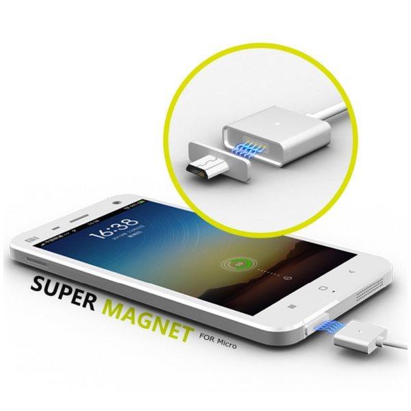 Magnetický nabíjací a dátový kábel BestMagnetic s microUSB konektorom