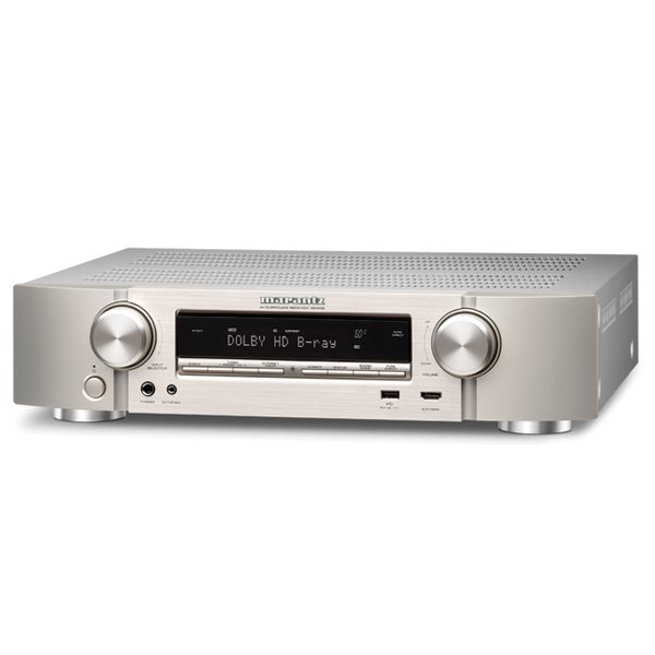 Marantz NR1506 - 5.1 Channel AV Receiver, Silver Gold