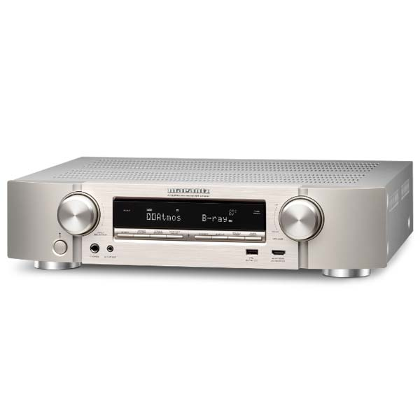 Marantz NR1607 - 7.2 Channel AV Receiver, Silver Gold