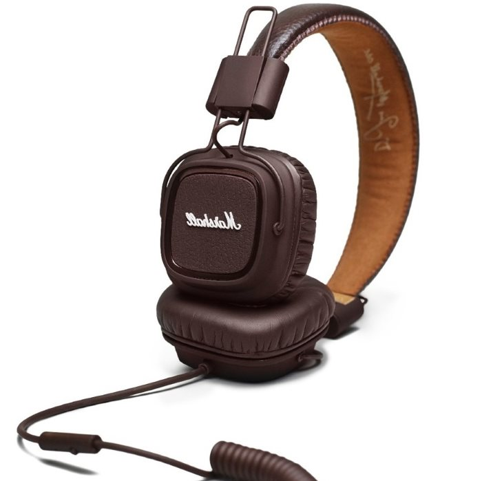 Marshall Major II, káblový Stereo Headset s 3.5mm jackom, Brown