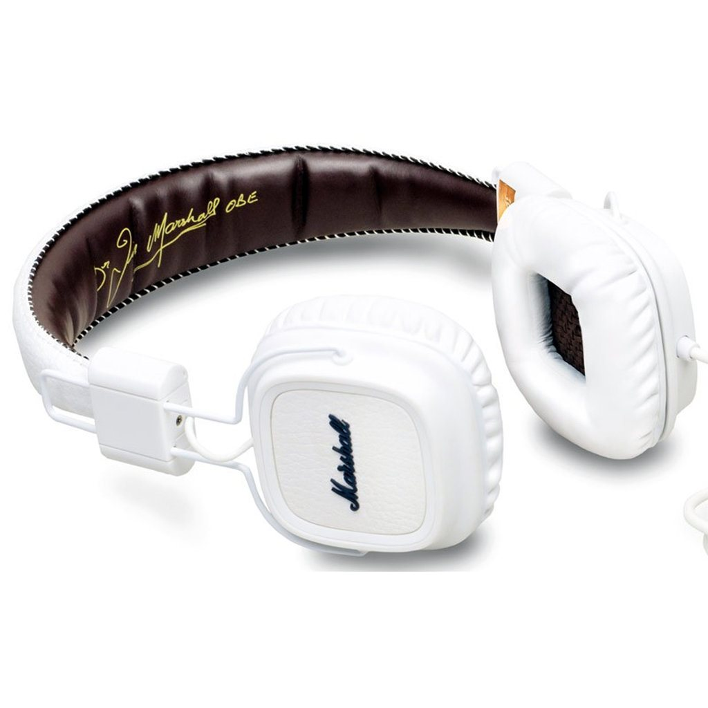 Marshall Major II, káblový Stereo Headset s 3.5mm jackom, White