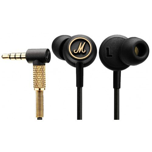 Marshall Mode EQ, káblový Stereo Headset s 3.5mm jackom, BlackGold