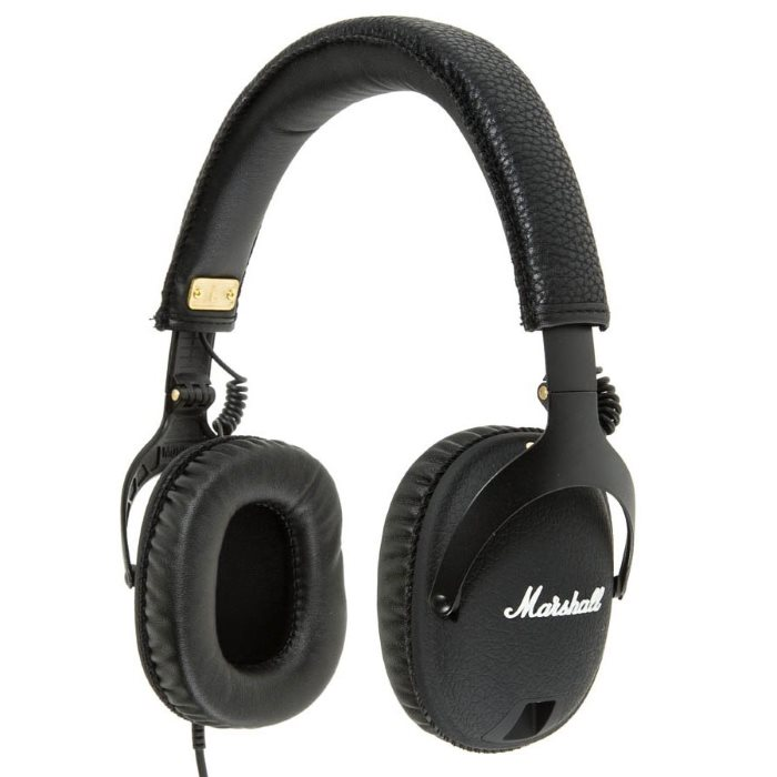 Marshall Monitor, káblový Stereo Headset s 3.5mm jackom, Black