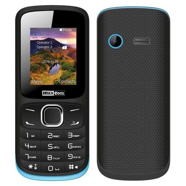 MaxCom MM128, Dual SIM, čierno-modrý - SK distribúcia