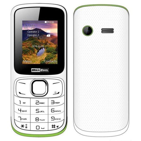 MaxCom MM129, Dual SIM, bielo-zelený - SK distribúcia