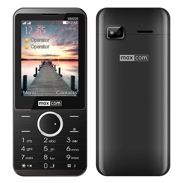 MaxCom MM235, Dual SIM, čierny - SK distribúcia