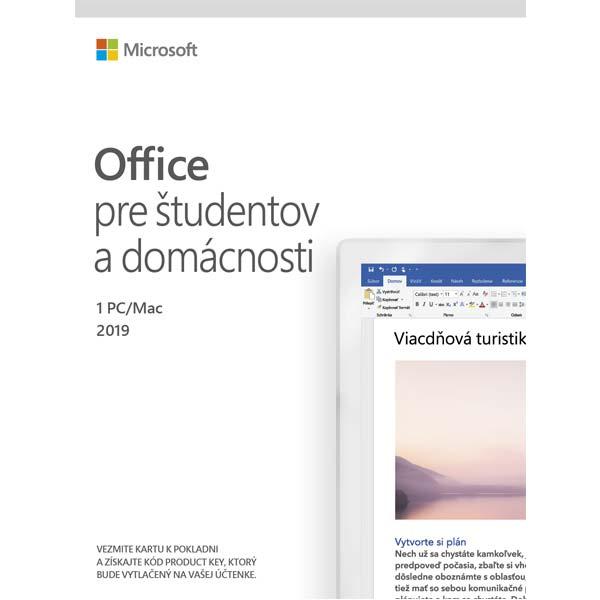 Microsoft 2019 pre študentov a domácnosti - 12 mesiacov