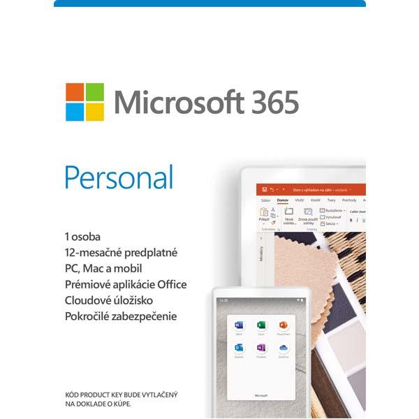 Microsoft 365 Personal - 12 mesiacov (32-bit/x64 SK)