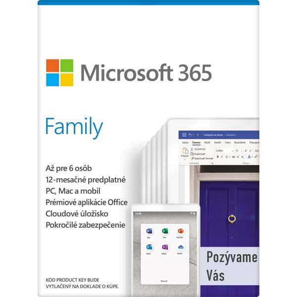 Microsoft 365 pre rodiny - 12 mesiacov