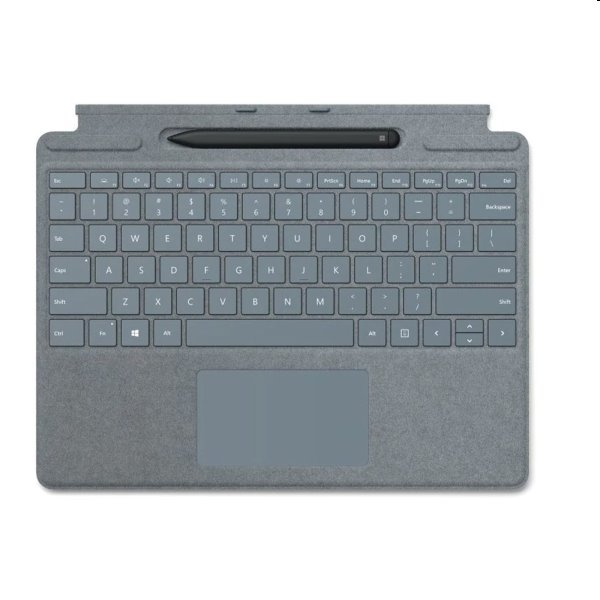 Microsoft Surface Pro X Keyboard + Pen bundle CZ&SK, platinový
