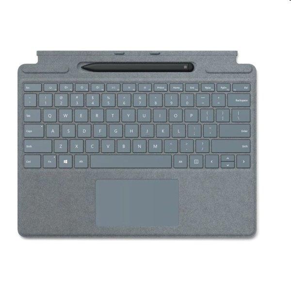 Microsoft Surface Pro X Keyboard + Pen bundle EN, platinový
