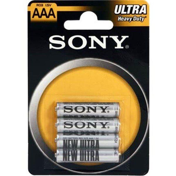 Mikrotužková batéria AAA(R03), SONY R03NUB4A, 4 kusy