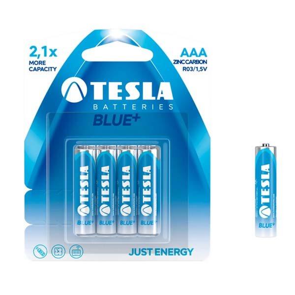 Miktotužková batéria typ AAA(R03), TESLA Blue+, 4 kusy